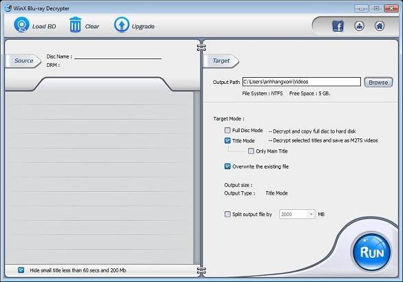 WinX Blu-ray Decrypter - Nhận key bản quyền miễn phí