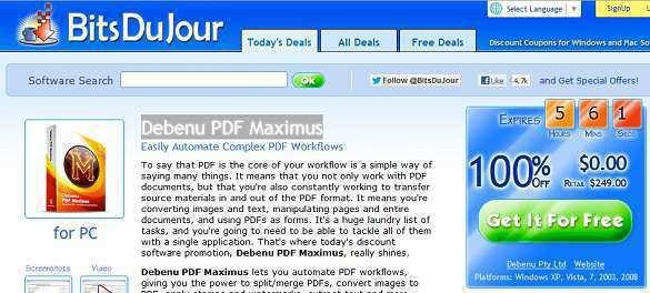 Debenu PDF Maximus - Nhận key bản quyền miễn phí