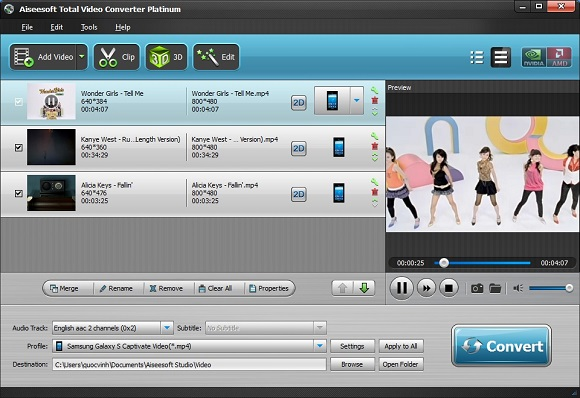 Aiseesoft Total Video Converter Platinum - Nhận key bản quyền miễn phí