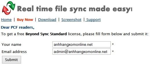 BeyondSync - Nhận key bản quyền miễn phí