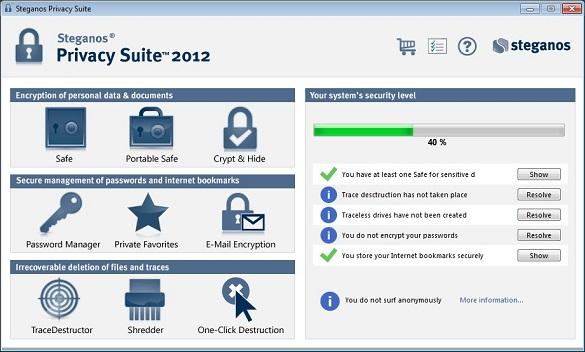 Steganos Privacy Suite 2012 (Version 13) - Nhận key bản quyền miễn phí