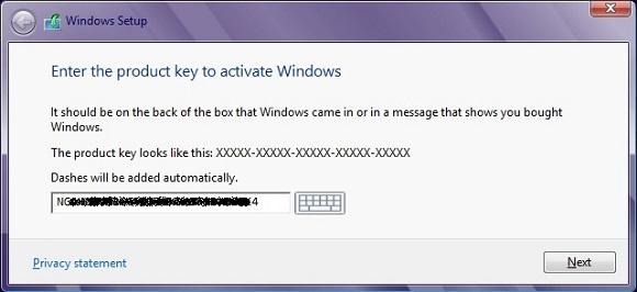 Windows 8 Product Keys được nhúng vào BIOS