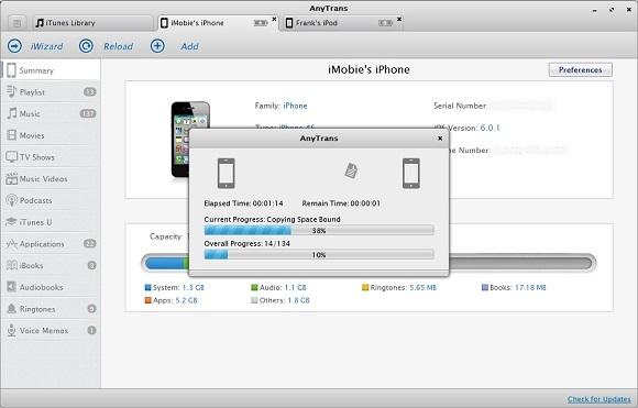 AnyTrans - Nhận key bản quyền miễn phí phần mềm chuyển đổi và backup iPhone