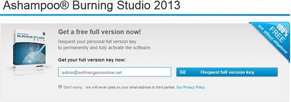 Ashampoo Burning Studio 2013 - Nhận key bản quyền miễn phí phần mềm ghi đĩa tốt nhất