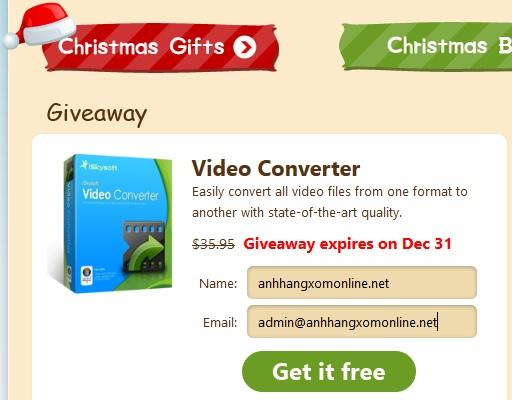 iSkysoft Video Converter - Nhận key bản quyền miễn phí