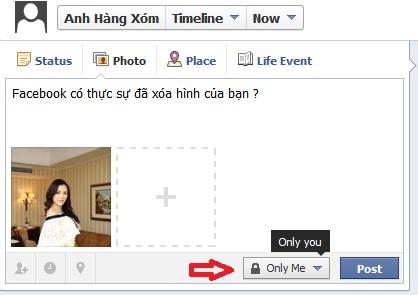 Facebook có thực sự đã xóa hình của bạn ?