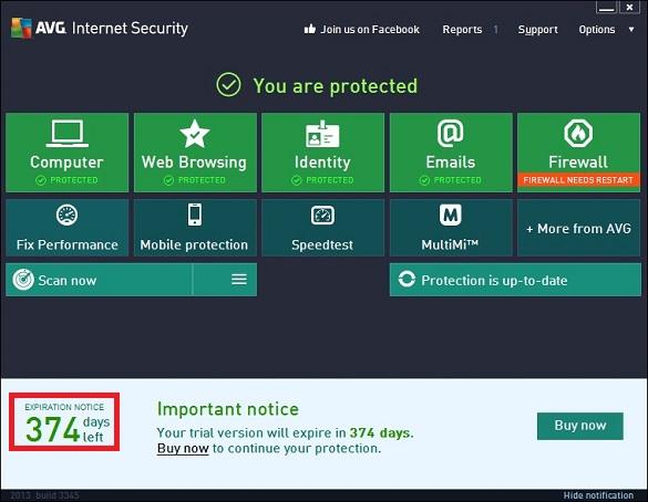 AVG Internet Security 2013 - Nhận key bản quyền 1 năm miễn phí