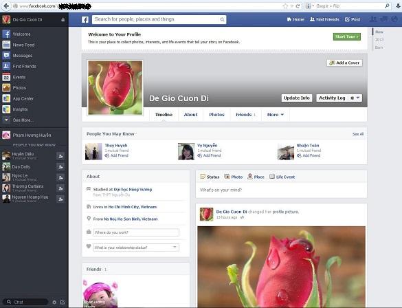 Facebook cập nhật giao diện mới