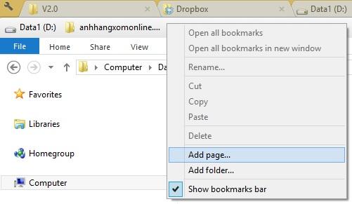 Clover 3 - Thêm tính năng duyệt thẻ cho Windows Explorer