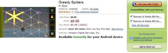 6 Game Android bản quyền miễn phí và 120 Amazon Coins
