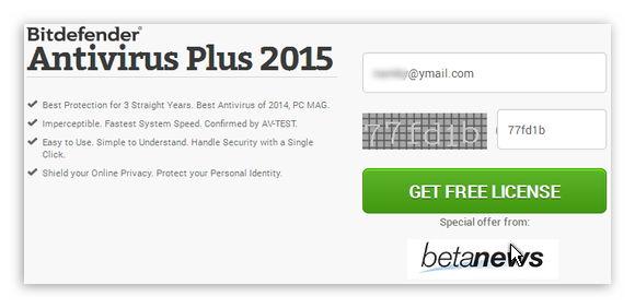 Key bản quyền Bitdefender Antivirus Plus 2015 miễn phí 6 tháng