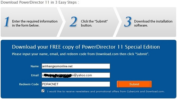 CyberLink PowerDirector 11 - Nhận key bản quyền miễn phí