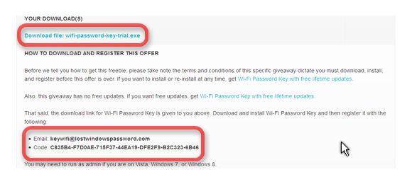 Bản quyền Wi-Fi Password Key miễn phí