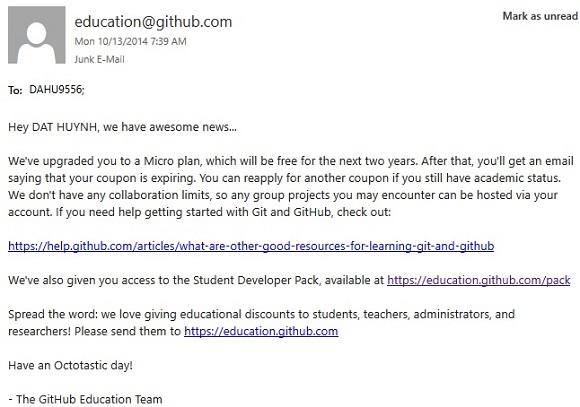 GitHub Student Developer Pack - Miễn phí cho sinh viên