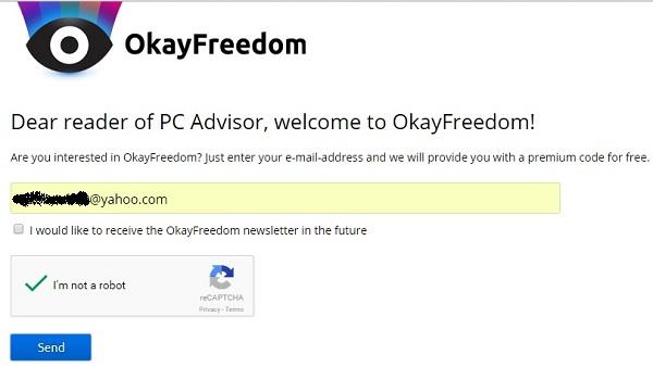OkayFreedom - Nhận key bản quyền Premium miễn phí