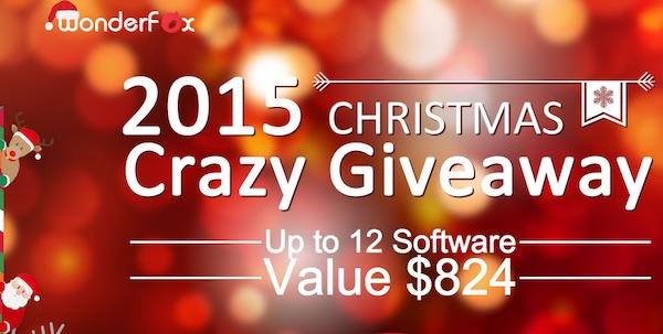 2015 Christmas Crazy Giveaway - 12 phần mềm bản quyền miễn phí !