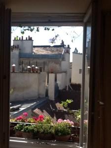 View from Annabel's Paris studio window