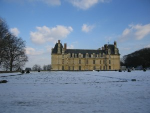 Château d'Ecouen in the snow