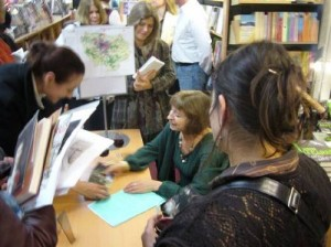 Annabel Simms book signing at WH Smith