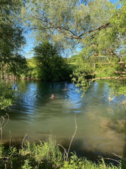 Wild swimming in the Thames, Oxfordshire