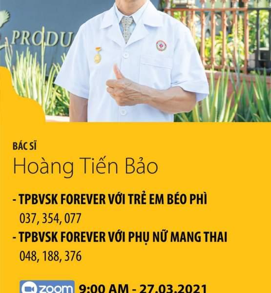 Bác sĩ Hoàng Tiến Bảo : THỰC PHẨM BẢO VỆ SỨC KHỎE FOREVER VỚI TRẺ EM BÉO PHÌ & PHỤ NỮ MANG THAI.