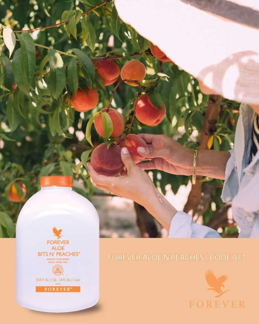 Vị ngon thiên nhiên của Forever Aloe N'Peaches 077 Flp đến từ đâu?