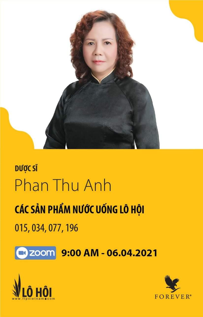 Dược sĩ : Phan Thu Anh đào tạo sp 015, 034, 077, 196