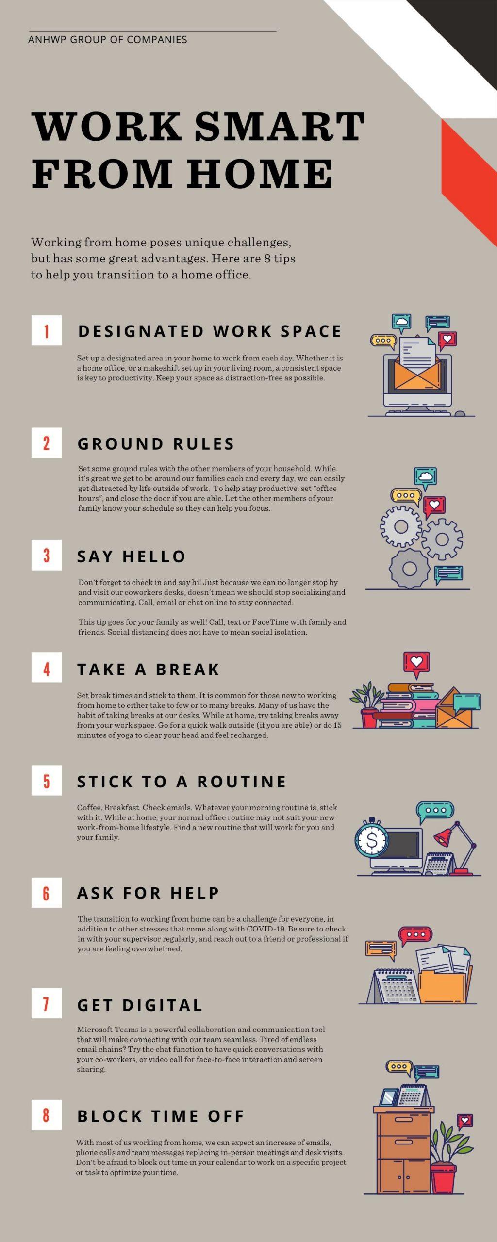 Work Smart From Home Tip Sheet