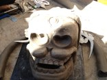 A Mask for Both Worlds, 1st Incarnation, 2012 Sculpture: Painted clay and metal, (process documentation)