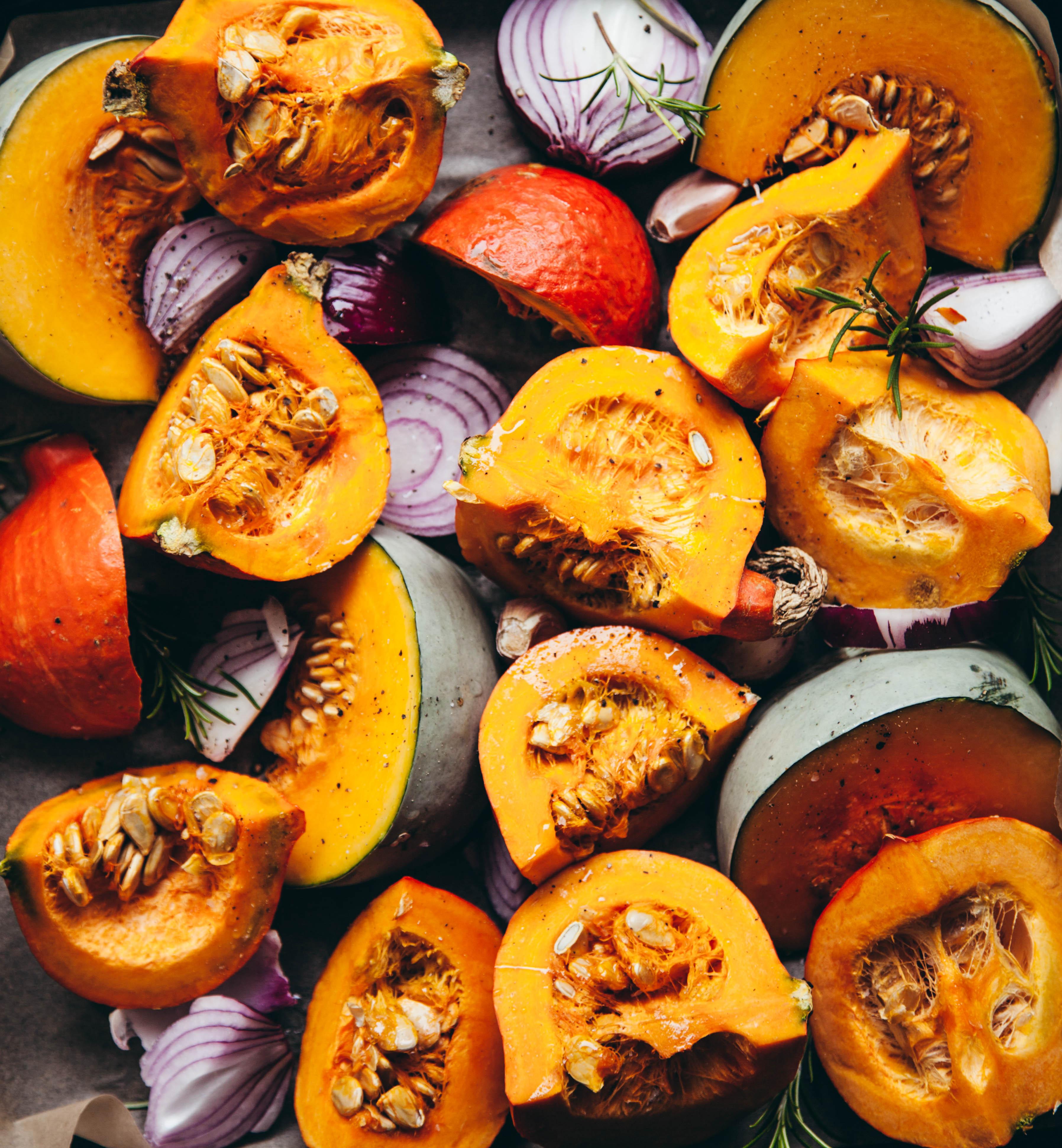 Pumpkin roasting
