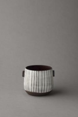 stripy black and white small vessel