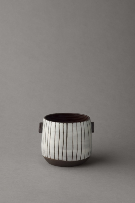 stripy black and white small vessel