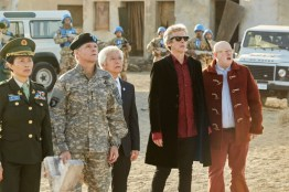 Doctor Who S10 - TX: 27/05/2017 - Episode: The Pyramid At The end Of The World (No. 7) - Picture Shows: Xiaolian (DAPHNE CHEUNG), The Commander (NIGEL HASTINGS), Secretary General (TOGO IGAWA), The Doctor (PETER CAPALDI), Nardole (MATT LUCAS) - (C) BBC/BBC Worldwide - Photographer: Simon Ridgway