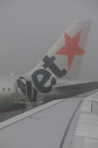 Foggy start to the day