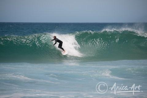 Surfing at Bendalong Beach