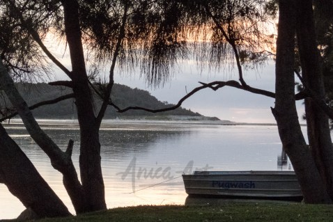 Peaceful dawn at Lake Conjola-5