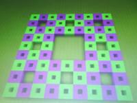 Sierpinski carpet in Minecraft game - Malo matematike