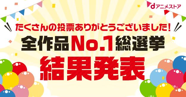 おすすめの人気アニメランキング「全作品No.1総選挙」結果発表!1位は『鬼滅の刃』