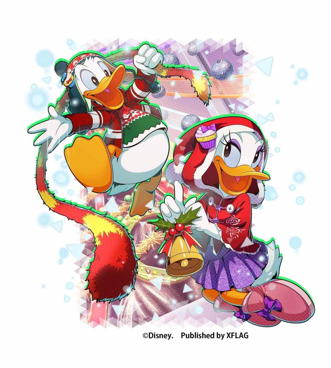 限定★5 カード「【クリスマスツリーデコレーション】ドナルドダック&デイジーダック」