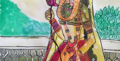 Watercolour Month Challenge Day4 – Mughal Art