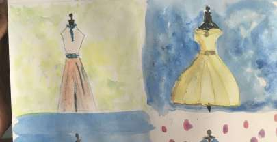 WaterColourMonth Challenge Day8 – Fashionista