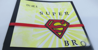 DIY Super Hero Rakhi card for your SUPER brother – Kids craft