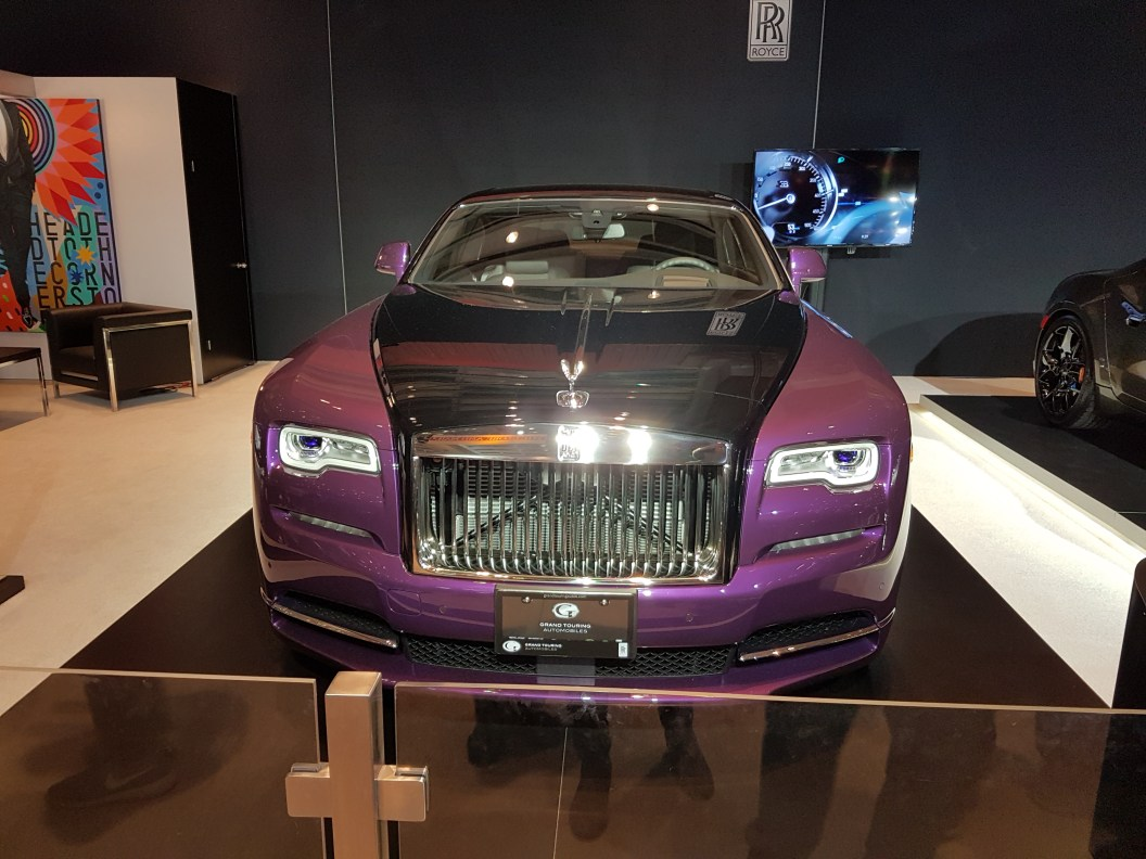 Violet painted 2018 Rolls Royce phantom