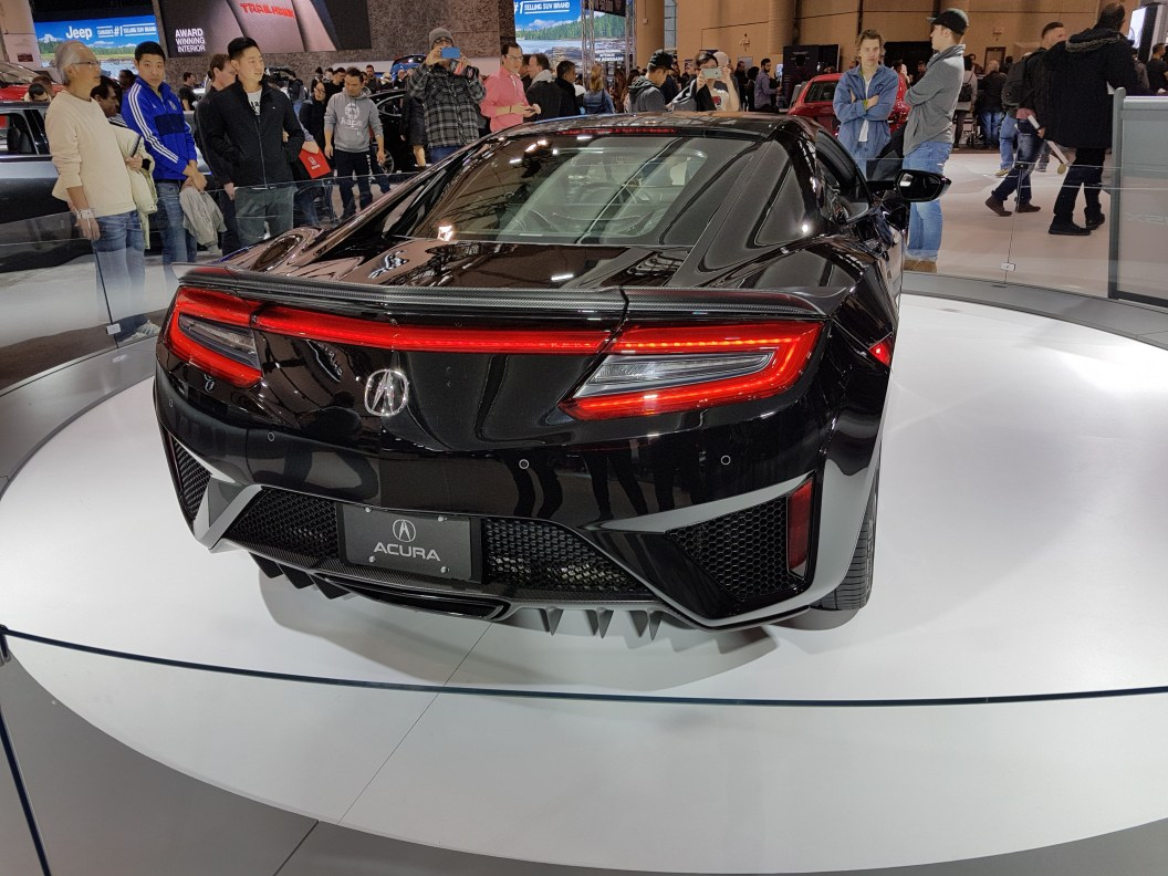 Rear of Acura's 2018 concept sedan.