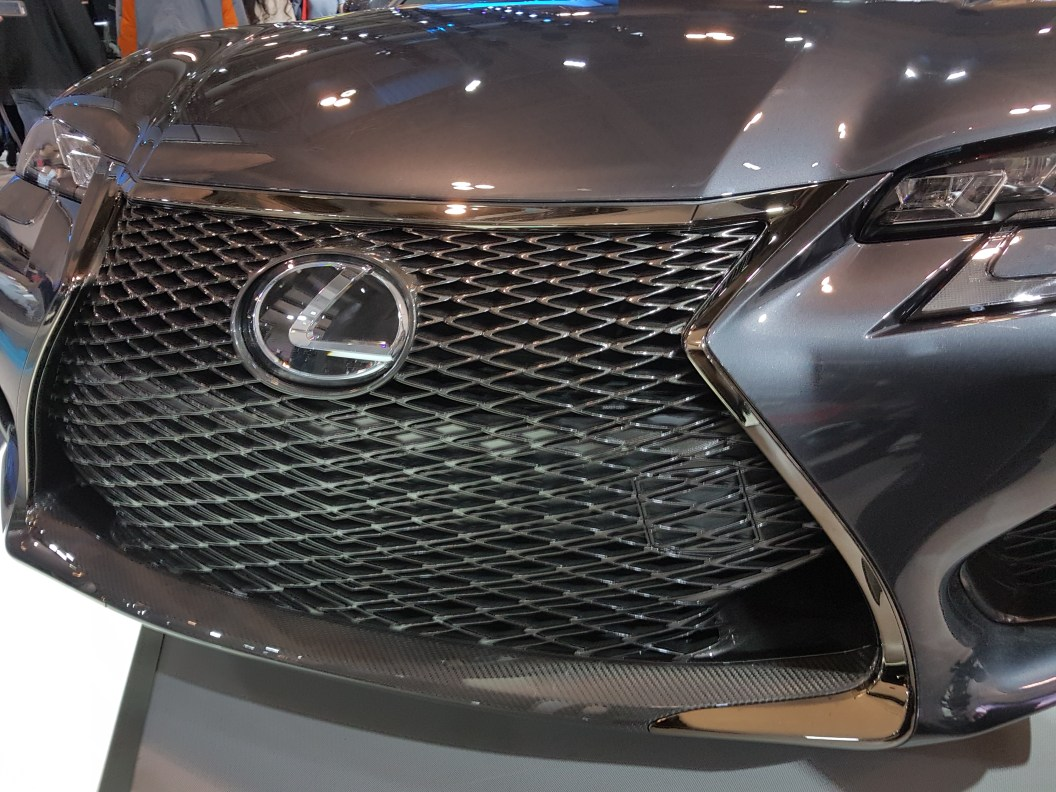 Front grill of 2018 Lexus concept car