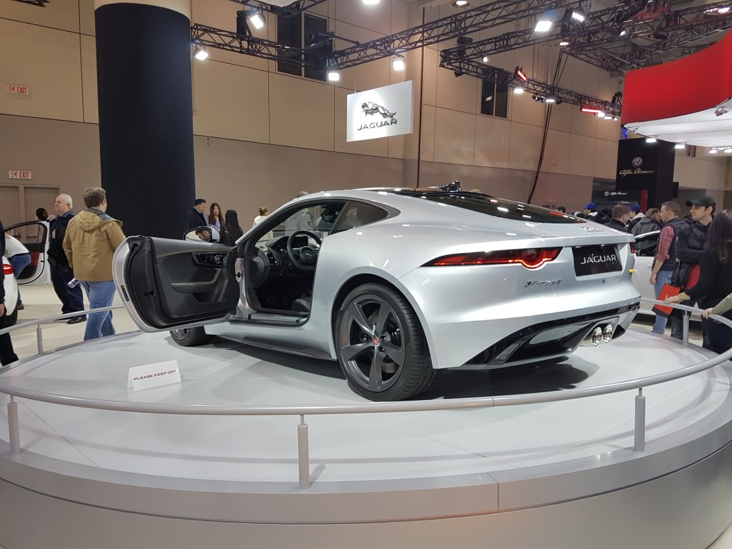 Rear view of Jaguar 2018