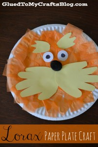 Lorax Paper Plate Craft | A Night Owl Blog