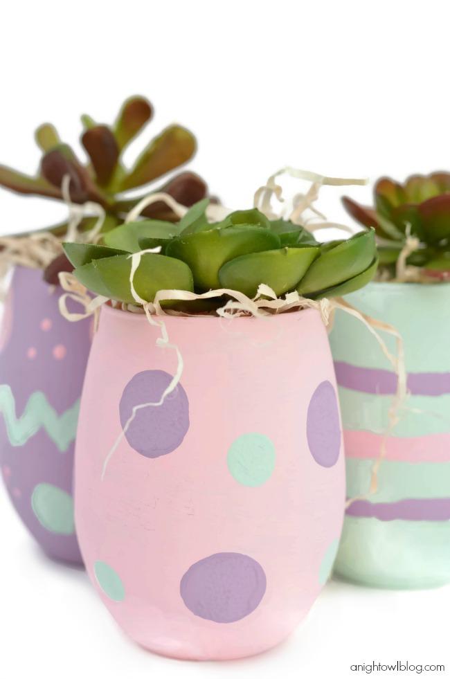 Easter Egg Inspired Vases