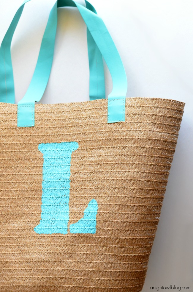 Monogram Teacher Tote for Teacher Appreciation