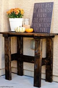 DIY Porch Table | A Night Owl Blog